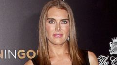 Brooke Shields Steps Out in a Leather Dress