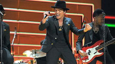 PHOTO: Bruno Mars performs onstage during the 55th Annual GRAMMY Awards, Feb. 10, 2013, in Los Angeles.