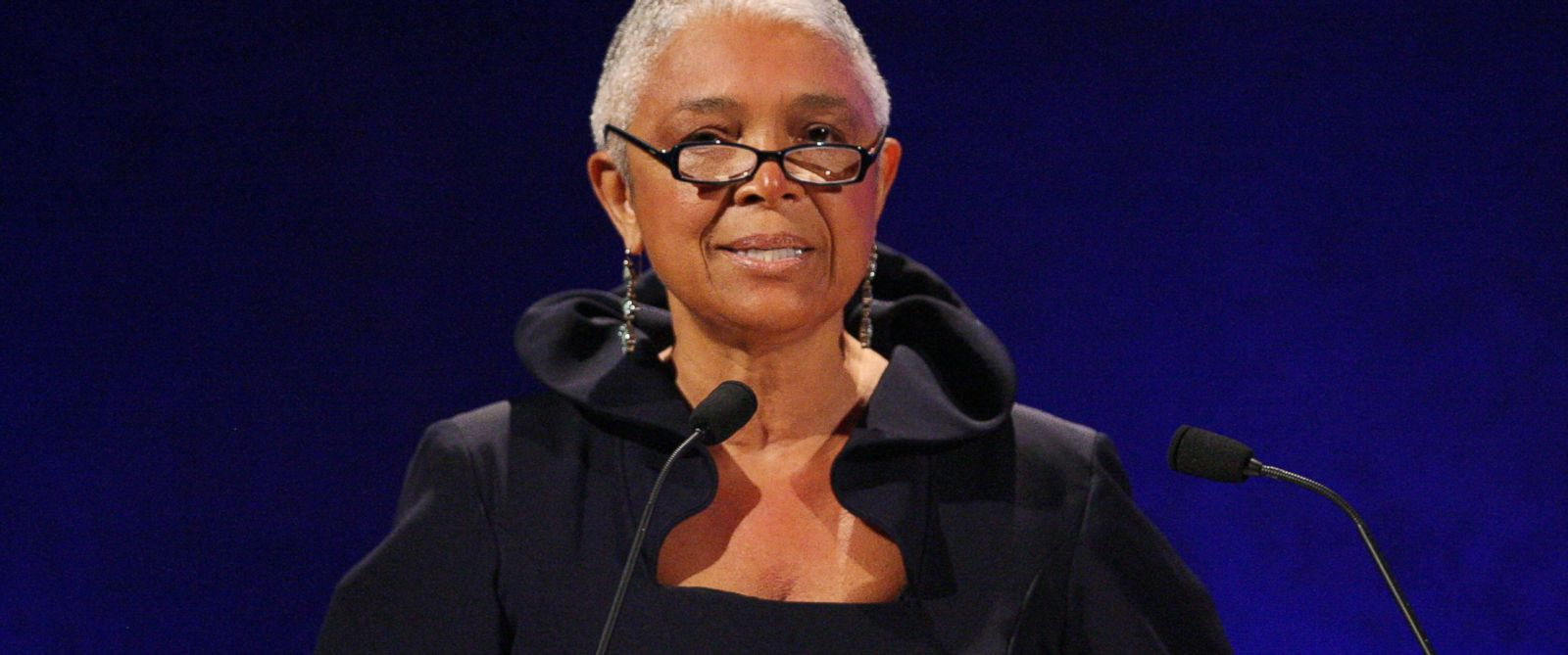 PHOTO:In this file photo, Camille Cosby speaks on stage at the 35th Anniversary of the Jackie Robinson Foundation, March 3, 2008, in New York.