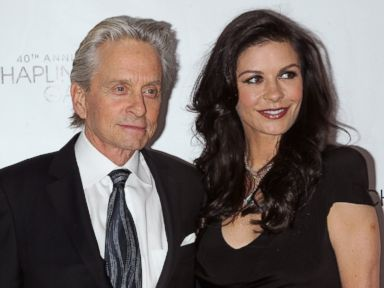 Michael Douglas and Catherine Zeta-Jones Enjoy a Private Dinner