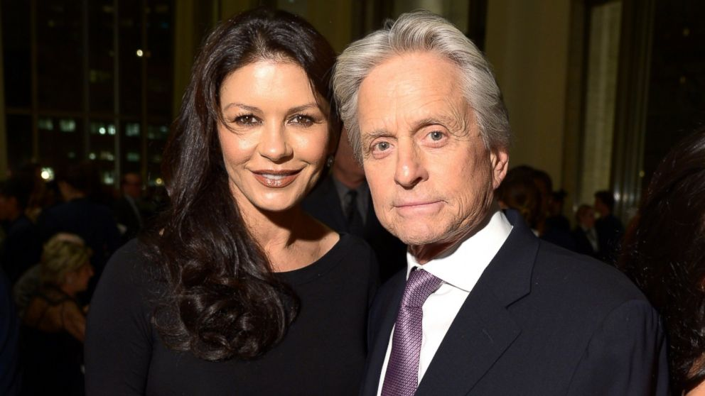 PHOTO: Catherine Zeta-Jones and Michael Douglas attend the 41st Annual Chaplin Award Gala dinner at Avery Fisher Hall at Lincoln Center for the Performing Arts, April 28, 2014 in New York.