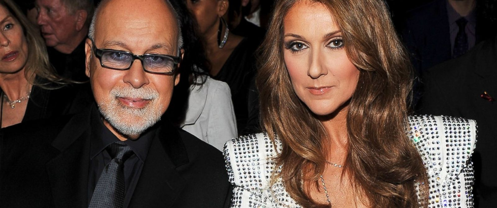 PHOTO: Celine Dion, right, and her husband Rene Angelil, left, are pictured on Jan. 31, 2010 in Los Angeles.