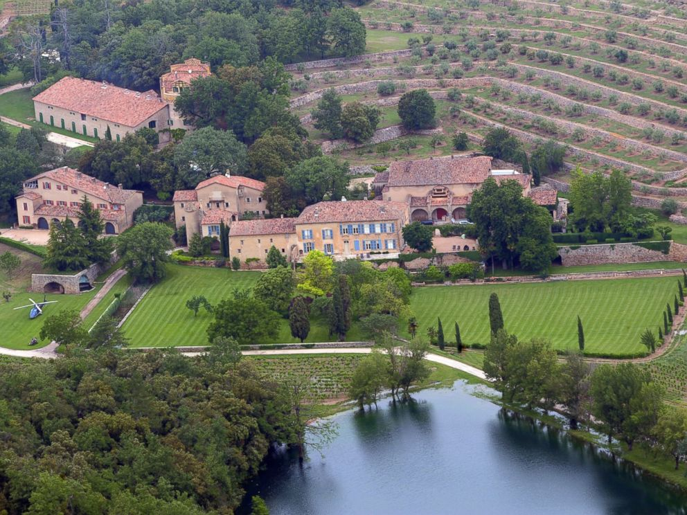 PHOTO: An aerial view of Chateau Miraval, a vineyard estate owned by US businessman Tom Bove, taken, May 31, 2008, in Le Val, France.