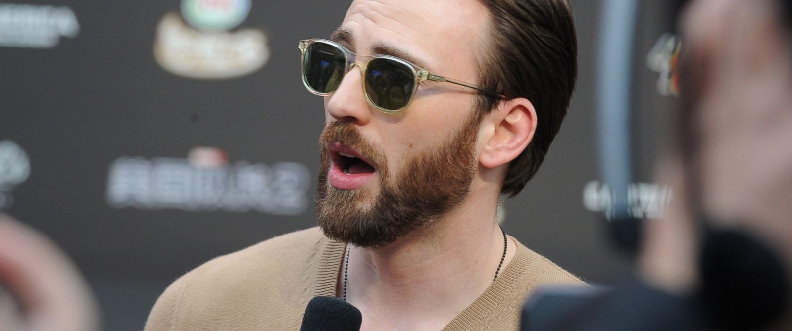 PHOTO: Chris Evans is pictured in Beijing, China on March 24, 2014.