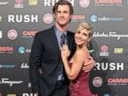 PHOTO: Chris Hemsworth and his wife Elsa Pataki attend the Rush premiere at Auditorium della Conciliazione, Sept. 14, 2013, in Rome.