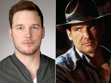 PHOTO: Chris Pratt poses for a portrait during the NBCUniversial TCA Press Tour, Jan. 16, 2015, in Pasadena, Calif. | Harrison Ford as Indiana Jones in a publicity still for the film Indiana Jones and the Last Crusade, 1989.