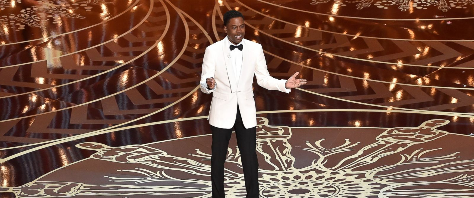PHOTO: Chris Rock speaks onstage during the 88th Annual Academy Awards, Feb. 28, 2016, in Hollywood, California.