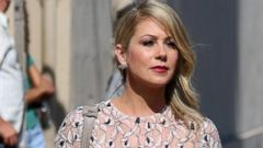 Christina Applegate Steps Out in a Lacy White Dress