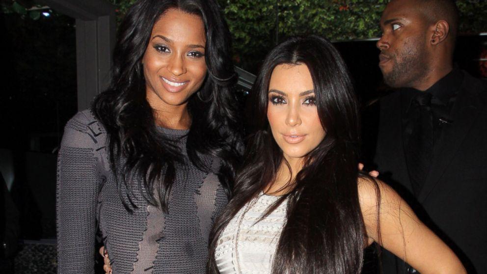 PHOTO: Ciara, left, and Kim Kardashian celebrate Ciaras birthday at Greenhouse in this Oct. 26, 2010, file photo in New York City.