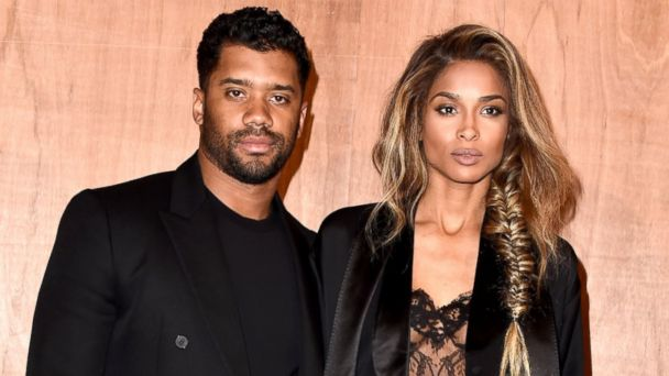 PHOTO: Russell Wilson and Ciara attend the Givenchy show as part of the Paris Fashion Week Womenswear Fall/Winter 2016/2017, March 6, 2016, in Paris.