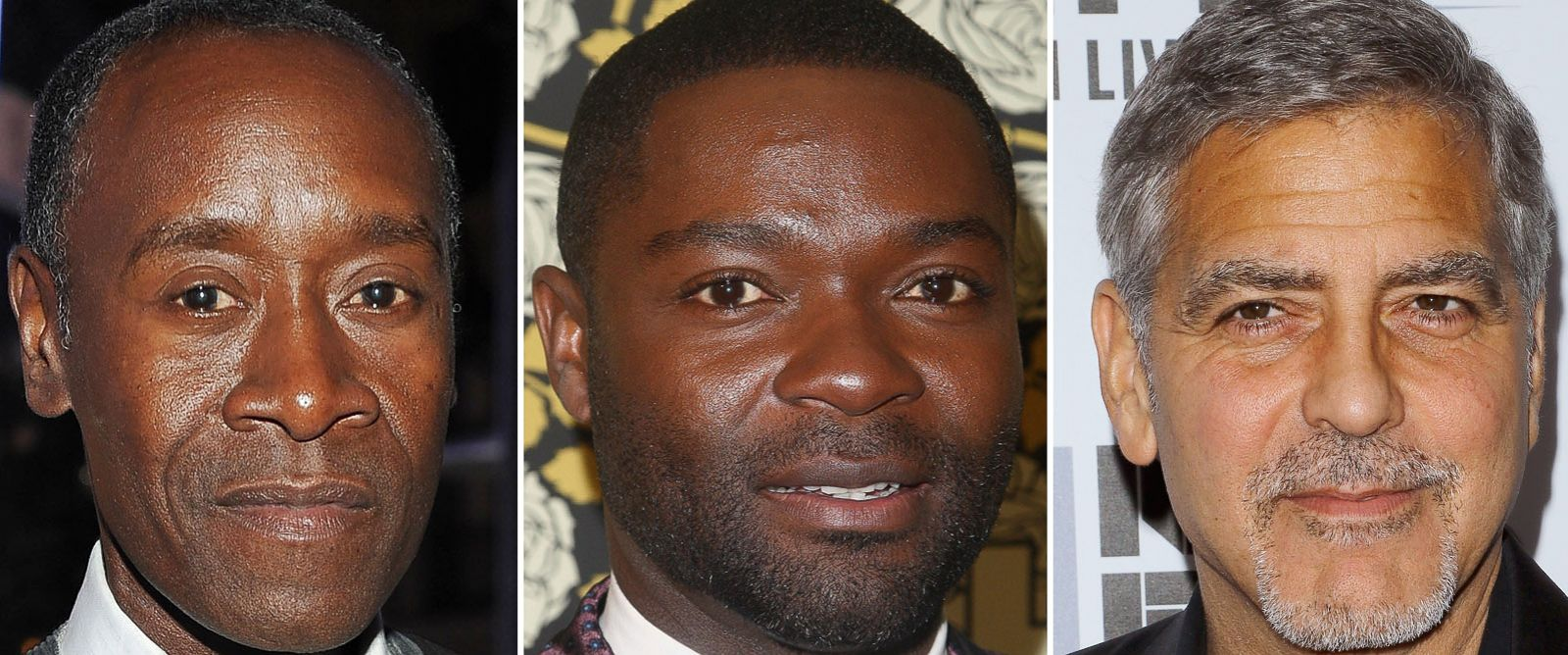 PHOTO: Don Cheadle attends Audemars Piguet Celebrates an opening on Dec. 9, 2015.   David Oyelowo attends the HBOs Post 2016 Golden Globe Awards Party on Jan. 10, 2016. Actor George Clooney attends a screening on Sep. 29, 2015.