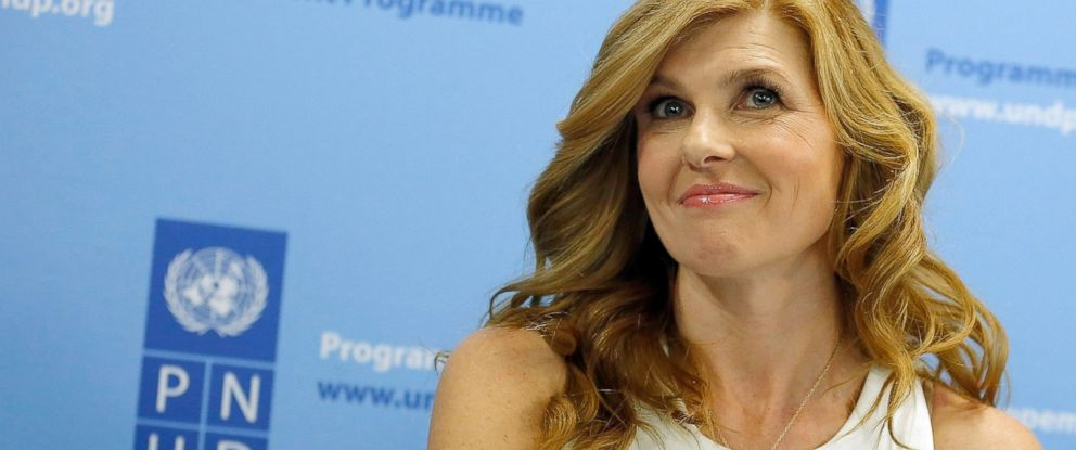 PHOTO: Connie Britton speaks as she announces her appointment As UNDP Goodwill Ambassador