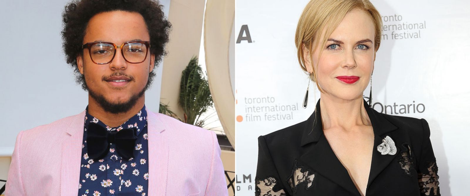 PHOTO: From left, Connor Cruise in Melbourne, Australia, and Nicole Kidman in Toronto, Canada