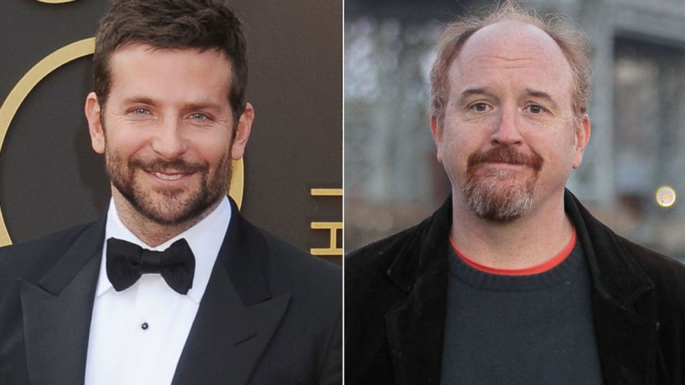 PHOTO: Bradley Cooper, left, is pictured on March 2, 2014 in Hollywood, Calif. Louis C.K., right, is pictured on Oct. 29, 2013 in New York City.