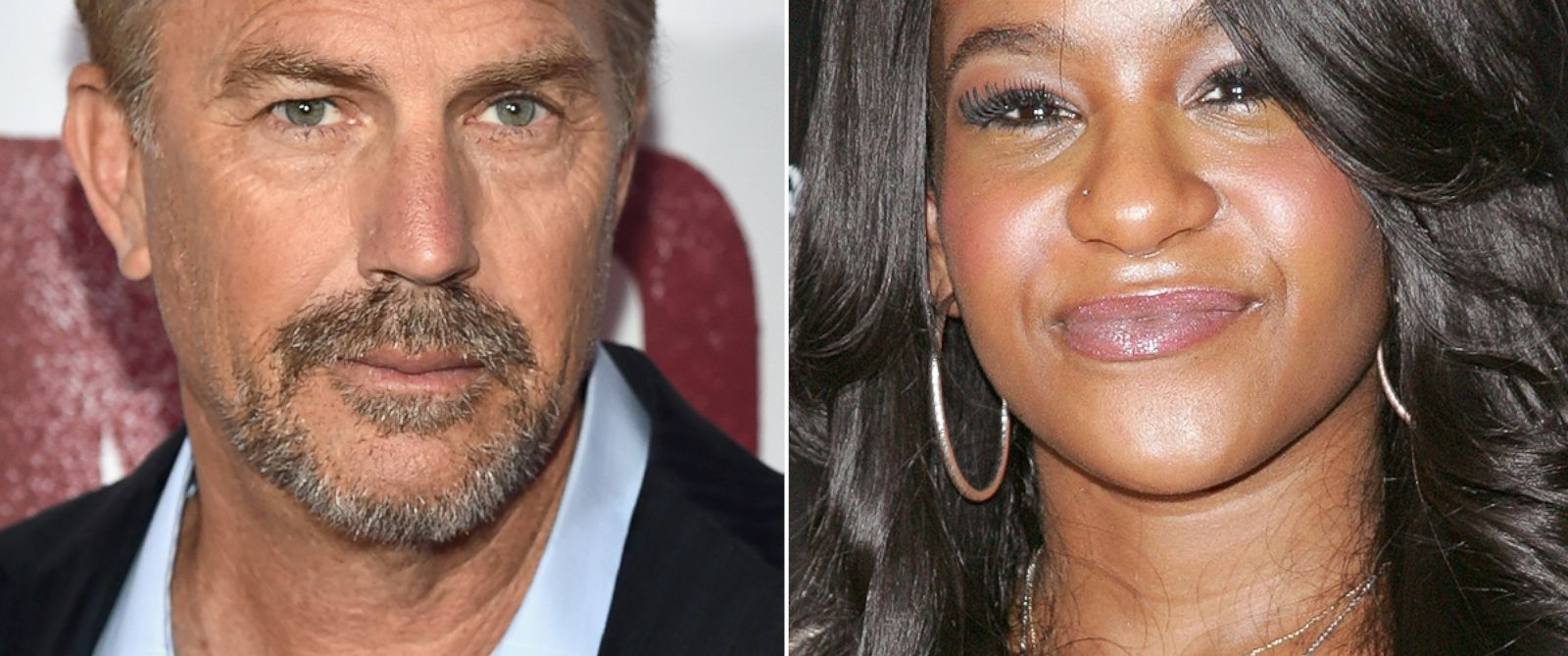 PHOTO: Kevin Costner, left, and Bobbi Kristina Brown, right, are pictured.