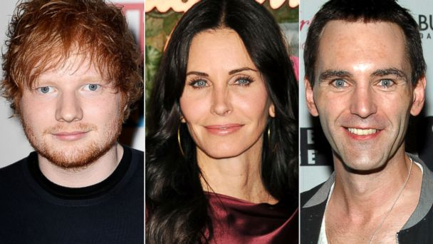 GTY courtney cox ed sheeran johnny mcdaid sk 131219 16x9 608 Ed Sheeran Set Up Courteney Cox With New Boyfriend Johnny McDaid