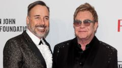 PHOTO: Elton John (R) and David Furnish attend the Elton John AIDS Foundations 13th Annual An Enduring Vision Benefit on Oct. 28, 2014 in New York City.