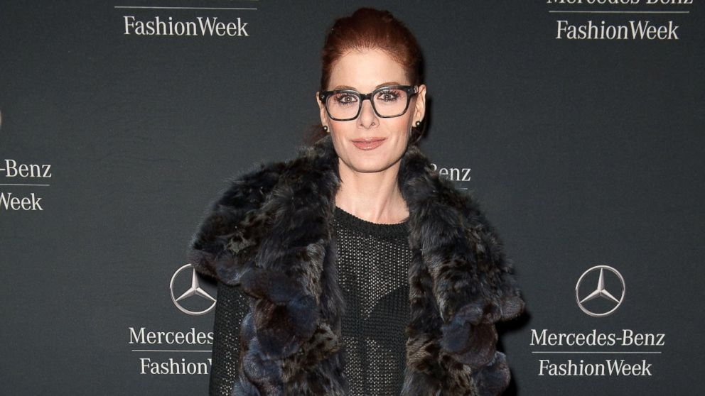 PHOTO: Debra Messing is seen during Mercedes-Benz Fashion Week Fall 2014 at Lincoln Center for the Performing Arts on February 10, 2014 in New York City.