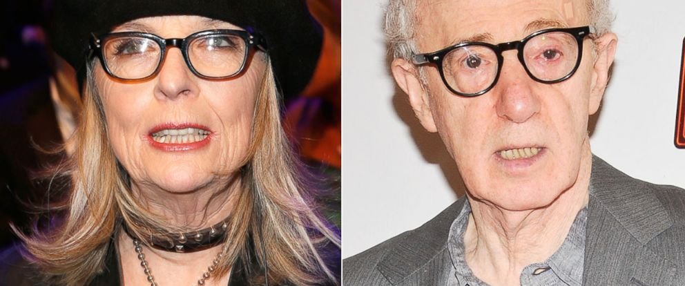 "PHOTO: Left, Diane Keaton is seen Feb. 1, 2014, in Berlin; and, right, Woody Allen attends the ""Bullets Over Broadway"" opening night celebration at St. James Theatre, April 10, 2014, in New York City."