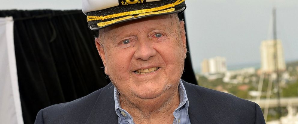 PHOTO: Dick Van Patten attends Love Boat Cast Christening Of Regal Princess Cruise Ship at Port Everglades, Nov. 5, 2014, in Fort Lauderdale, Fla.