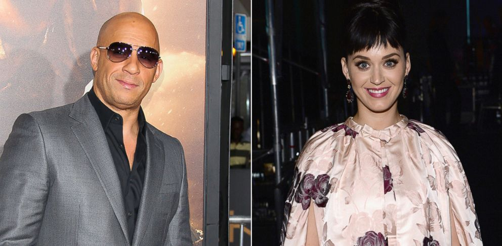 PHOTO: Vin Diesel, left, is pictured on Aug. 28, 2013 in Westwood, Calif. Katy Perry, right, is pictured on Jan. 27, 2014 in Los Angeles.