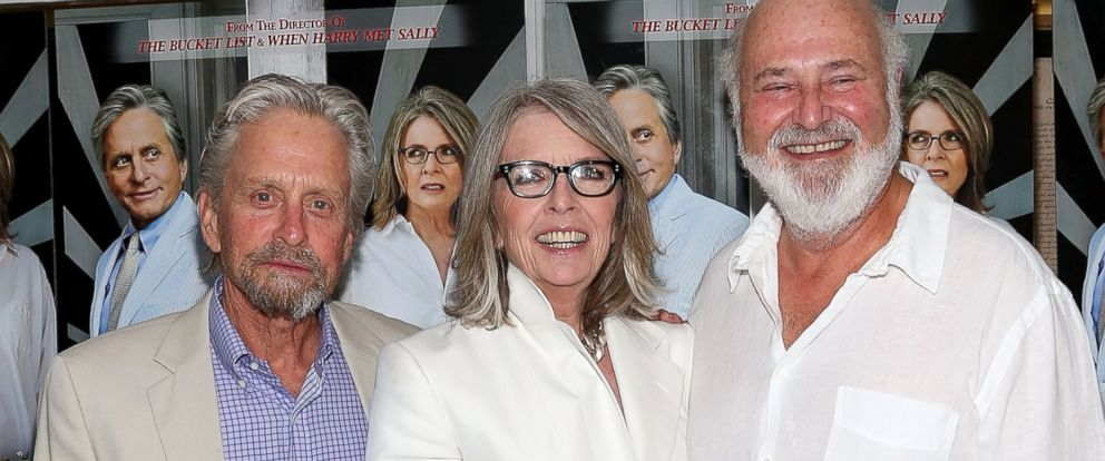"""PHOTO: Michael Douglas, Diane Keaton, and Rob Reiner attend the """"And So It Goes"""" premiere at Easthampton Guild Hall, July 6, 2014, in East Hampton, New York."""