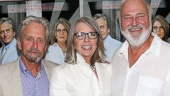 "PHOTO: Michael Douglas, Diane Keaton, and Rob Reiner attend the ""And So It Goes"" premiere at Easthampton Guild Hall, July 6, 2014, in East Hampton, New York."