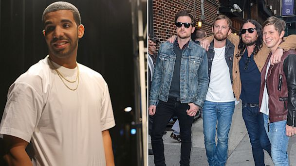 PHOTO: At left, Drake; at right, Kings of Leon.