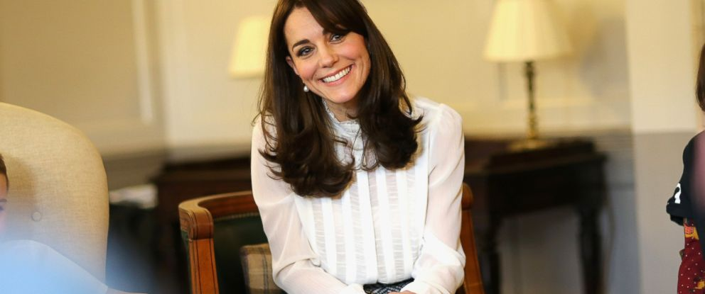 PHOTO:Catherine, Duchess of Cambridge talks to children from the Real Truth video blog on the Huffington Post website at Kensington Palace, Feb. 17, 2016 in London.