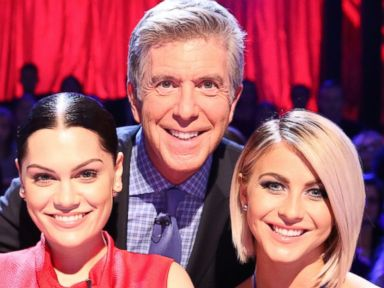 PHOTO: From left, Carrie Ann Inaba, Jessie J, Tom Bergeron, and Julianne Hough are pictured on Dancing with the Stars on Oct. 13, 2014.