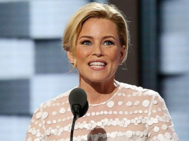 PHOTO: Elizabeth Banks delivers remarks on day two of the 2016 Democratic National Convention at Wells Fargo Center, July 26, 2016, in Philadelphia.
