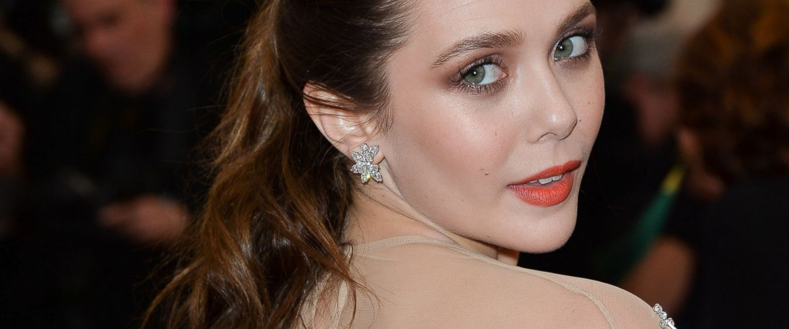 """PHOTO: Elizabeth Olsen attends the """"Charles James: Beyond Fashion"""" Costume Institute Gala at the Metropolitan Museum of Art, May 5, 2014 in New York City."""