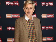 PHOTO: Ellen DeGeneres kicks off the Power a Smile campaign at the Van Nuys Airport on Nov. 22, 2013, in Van Nuys, Calif.