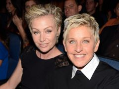PHOTO: Portia deRossi and Ellen DeGeneres in the audience during 2013 Peoples Choice Awards at Nokia Theatre L.A. Live on Jan. 9, 2013 in Los Angeles, Calif.