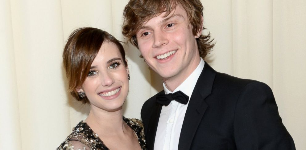 PHOTO: Emma Roberts and Evan Peters attend the Elton John AIDS Foundation Academy Awards Viewing Party, Feb. 24, 2013, in West Hollywood, Calif.