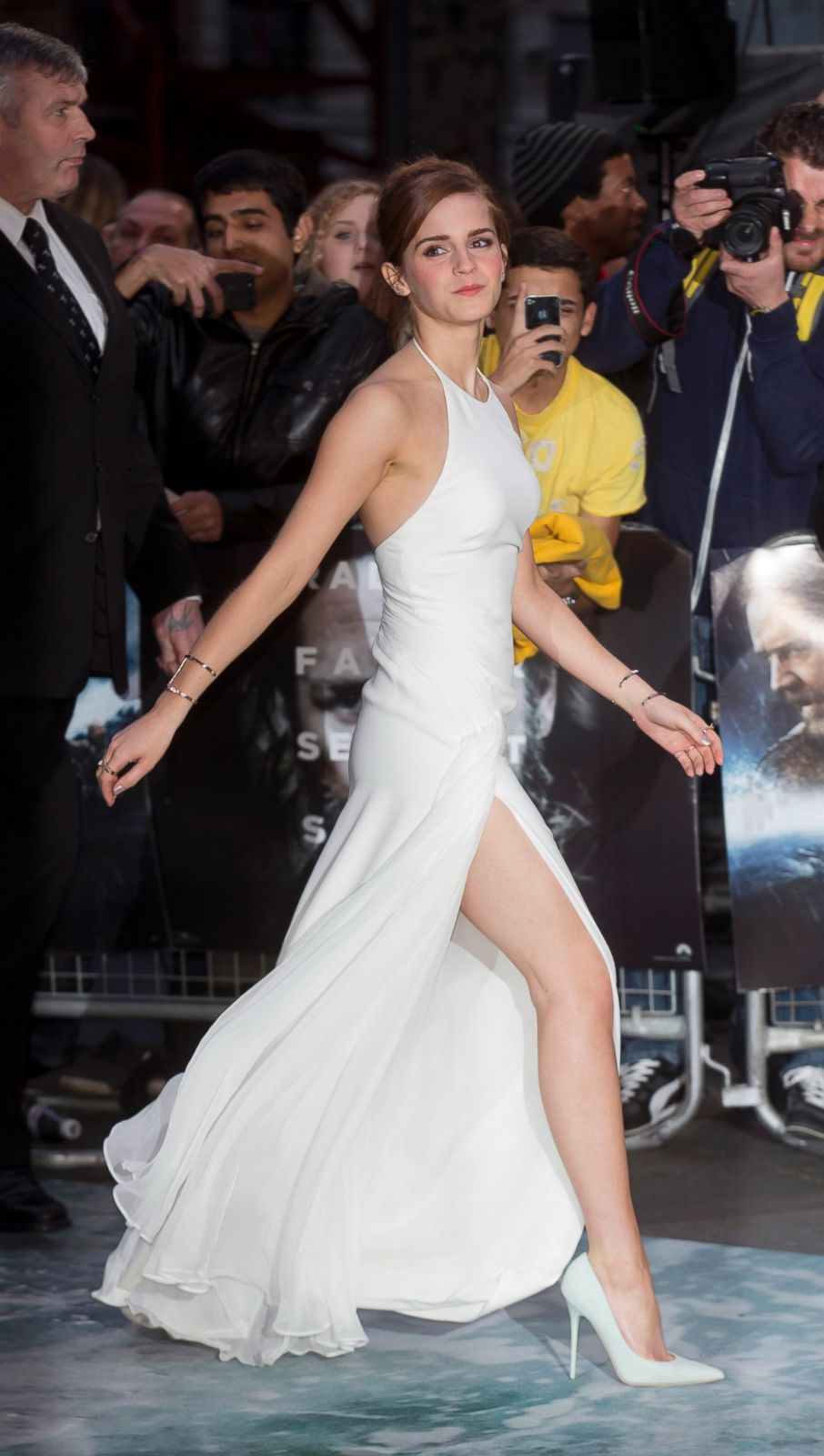 Emma Watson Shows Off Her Legs Picture Daring Red Carpet