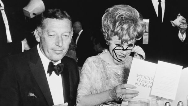 PHOTO: Gary Morton, left, and Lucille Ball during are seen during the 19th annual Primetime Emmy Awards.