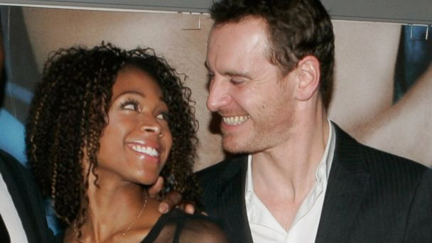 "PHOTO: Nicole Beharie and Michael Fassbender attend the ""Shame"" Paris premiere at Mk2 Bibliotheque on November 22, 2011 in Paris, France."
