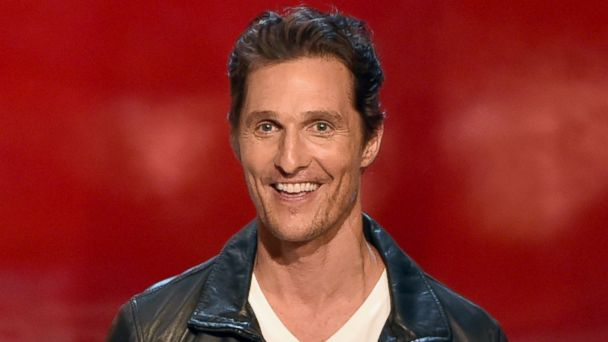 "PHOTO: Actor Matthew McConaughey speaks onstage during Spike TVs ""Guys Choice 2014"" at Sony Pictures Studios on June 7, 2014 in Culver City, Calif."