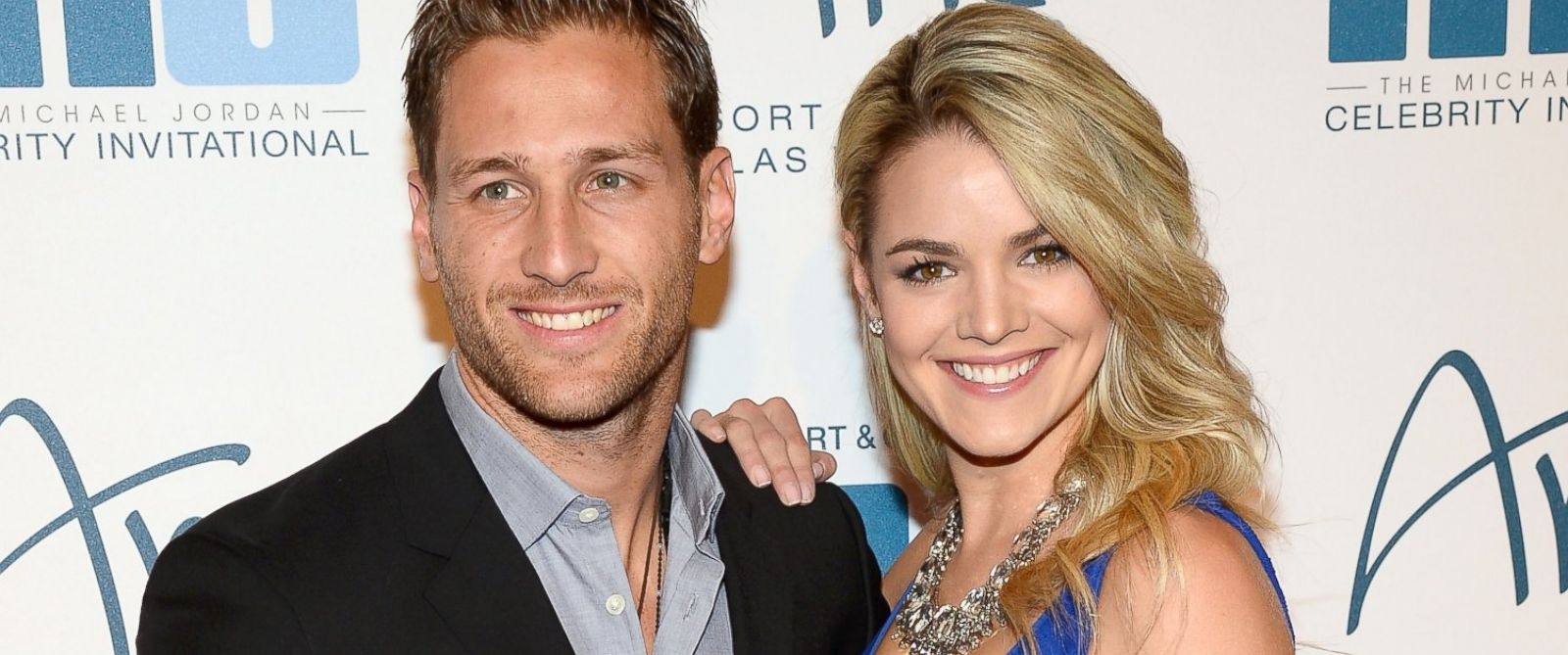 PHOTO: Television personalities Juan Pablo Galavis and Nikki Ferrell arrive at the 13th annual Michael Jordan Celebrity Invitational gala at the ARIA Resort & Casino at CityCenter, April 4, 2014, in Las Vegas.