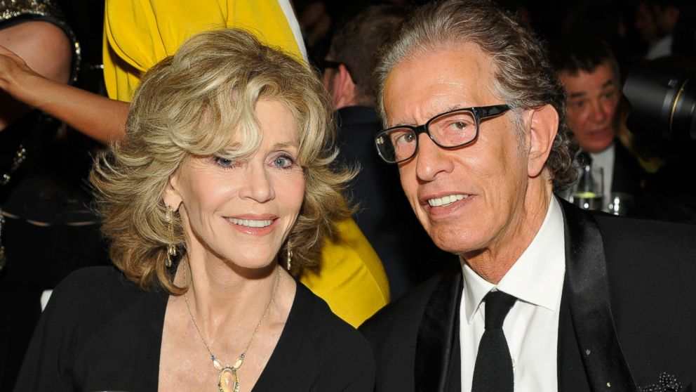 PHOTO: Jane Fonda, left, and Richard Perry, right, are pictured on March 29, 2014 in Los Angeles.