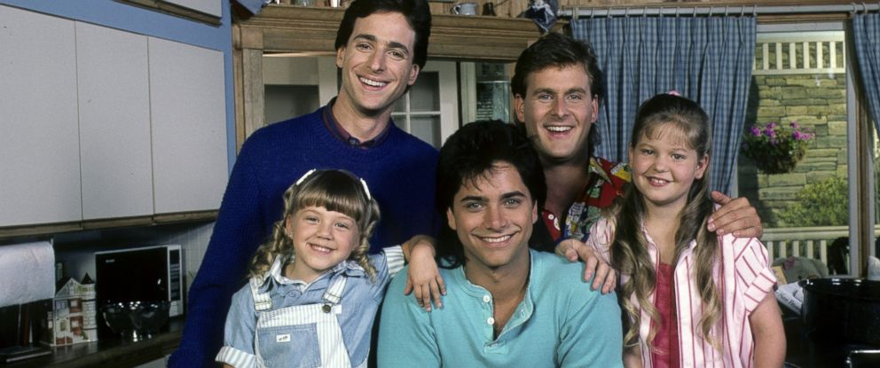 """PHOTO: The cast of """"Full House"""" are seen in this July 1, 1987, file photo."""