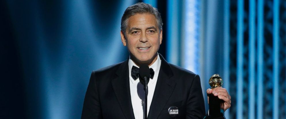 PHOTO: George Clooney, Winner of the Cecile B. Demille Award, speaks onstage during the 72nd Annual Golden Globe Awards at The Beverly Hilton Hotel, Jan. 11, 2015 in Beverly Hills, Calif.