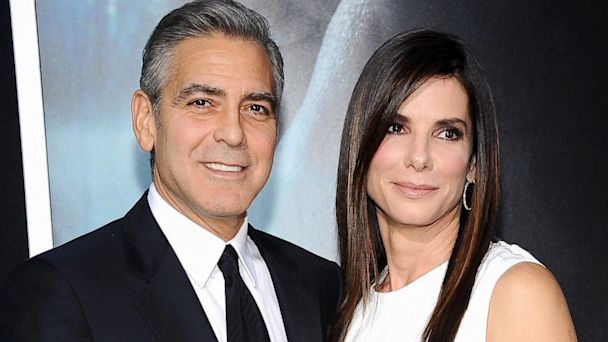 GTY george clooney sandra bullock jef 131002 16x9 608 George Clooney and Sandra Bullocks Son Bonded Over Hoops