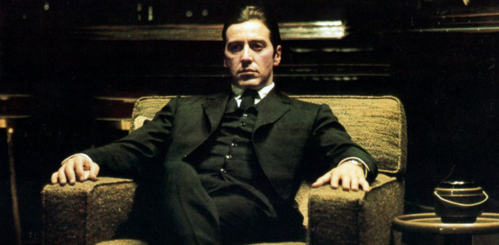 PHOTO: Al Pacino sits in a chair in a scene from the film The Godfather: Part II, 1974.