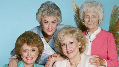 PHOTO: From left, Rue McClanahan as Blanche Devereaux, Bea Arthur as Dorothy Petrillo Zbornak, Betty White as Rose Nylund, and Estelle Getty as Sophia Petrillo are pictured in this Golden Girls promo photo.