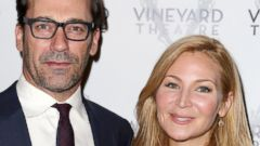 Jon Hamm and Jessica Westfeldt Enjoy a Broadway Date