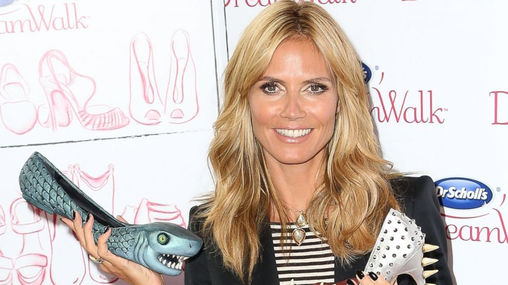 PHOTO: Heidi Klum attends the Dr. Scholls DreamWalk Line Launch at Gansevoort Park Avenue on April 2, 2014 in New York City.