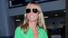 Heidi Klum Steps Out in an All Green Ensemble