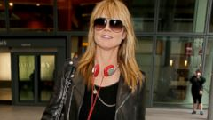 Heidi Klum Makes a Stylish Arrival In London
